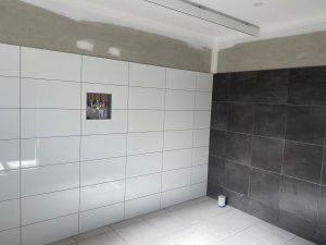 bathroom tiles and ceiling rail in SDA Bathroom